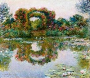 Flowering Arches, Giverny by Claude Monet is an oil on canvas (31-7/8x36-1/4 inches) housed in the Phoenix Art Museum.