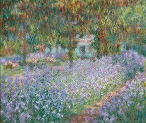 The Artist's Garden at Giverny by Claude Monet is an oil on canvas (31-7/8x36-1/4 inches) housed at the Musée d'Orsay in Paris.