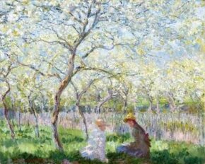 Springtime (Le Printemps) by Claude Monet is an oil on canvas (25-1/2x31-3/4 inches) housed in The Fitzwilliam Museum at the University of Cambridge, England.