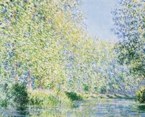 Claude Monet's Bend in the Epte River near Giverny is an oil on canvas (28-3/4x36-1/4 inches) housed in the Philadelphia Museum of Art.
