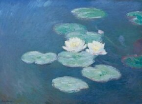 Waterlilies, night effect by Claude Monet is an oil on canvas (38-5/8x51-5/8 inches) housed at the Musée d'Orsay in Paris.