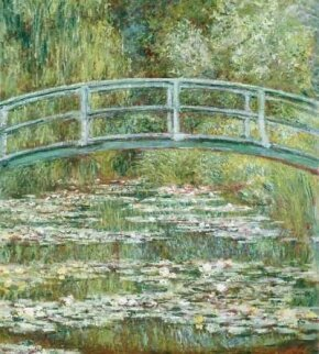 Claude Monet's Bridge Over a Pond of Water Lilies is an oil on canvas (36-1/2x29 inches) housed in The Metropolitan Museum of Art in New York.