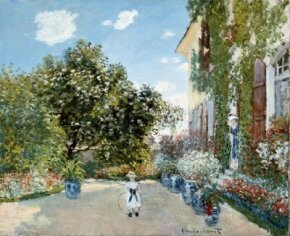 Claude Monet's The Artist's House at Argenteuil  (23-3/4x28-7/8 inches) is an oil on canvas housed as part of the Mr. and Mrs. Martin A. Ryerson Collection at the Art Institute of Chicago.