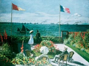 Claude Monet's Garden at Sainte-Adresse (38-5/8x 51-1/4 inches) is an oil-on-canvas work housed at the Metropolitan Museum of Art in New York.