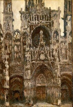 The Portal, Harmony in Brown by Claude Monet is an oil on canvas (42-1/8 x 28-3/4 inches) and is housed at Musée d'Orsay, Paris.