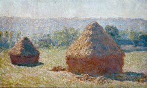 Haystacks: End of Summer by Claude Monet is one of a series where Monet studies the effect of light and season on the same subject.