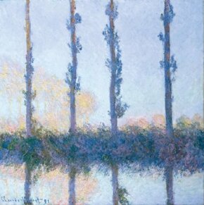 Four Trees by Claude Monet is an oil on canvas (32-1/4 x 32-1/8 inches) housed at The Metropolitan Museum of Art, New York.