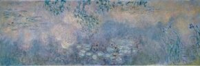 Water Lily Pond with Irises by Claude Monet is an oil on canvas (78-3/4 x 236-1/4 inches) and is housed at Kunsthaus Zurich, Switzerland.