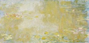 Waterlilies at Giverny by Claude Monet is an oil on canvas (39-3/8 x 78-3/4 inches) and is housed at Musee des Beaux-Arts, Nantes, France.