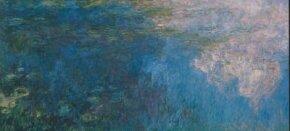 Claude Monet's The Clouds is housed at Musee de                              l'Orangerie, Paris. (Left panel)