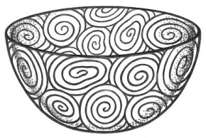©2007 Publications International, Ltd. Bend wire and cover it with clay for a coiled clay bowl.