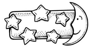©2007 Publications International, Ltd. Cut tiny stars and a moon for a barrette that's out of this world.