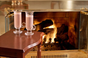 After a cozy romantic evening by the fire, the glass doors will need some attention, too.