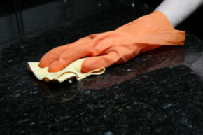 Make sure to use a nonabrasive cloth on your granite countertops.