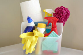 Keep it all in one place for an easy grab-and-go cleaning session.