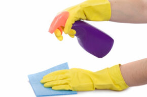 Spraying the cleaner onto a cloth rather than the screen will keep your TV free from damage.