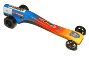 An F1 car built by Archbishop Temple School for the F1 challenge in 2003.