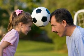 On the field, you're the coach, not the parent.