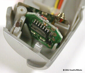 The Cold Heat tool has a small circuit board next to the battery contacts.