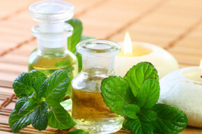 Peppermint oil can kill some forms of bacteria, but it hasn't been found to be clinically beneficial to humans in this regard.