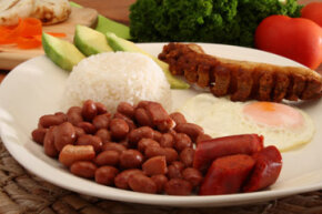 Bandeja paisa: It's got a little of everything.