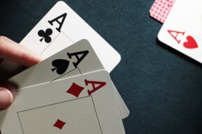 "The phrase ""palm off"" came from deception while playing cards."