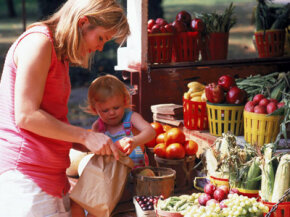 Some CSA programs allow you pick up the produce right from the farm.