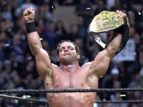 Chris Benoit wins the Triple Threat World Title Match. See more sport pictures.