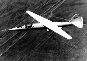 The NASA AD-1 offered a unique configuration for supersonic flight: an oblique wing was fixed at conventional position for takeoff but swung to a fore-and-aft position for high-speeds.