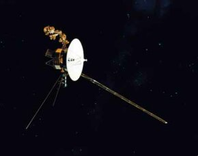 The Voyager 1 and Voyager 2 satellites were perhaps the greatest bargains in space history. Voyager 1 (shown here) was launched September 5, 1977, and flew past Jupiter on March 5, 1979, and by Saturn on November 12, 1980.