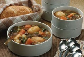 Comfort Foods Image Gallery This seasonal soup takes advantage of the harvest cycle of vegetables like potatoes and carrots. See more pictures of comfort foods.