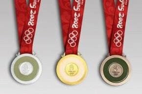 The Beijing 2008 medals. See more pictures of Olympic medals.