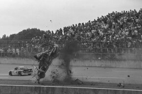 Rusty Wallace finished the race on his car's nose, but he still placed sixth.