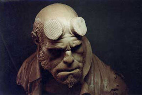 """Make-up design bust sculpted for """"Hellboy"""" makeup"""