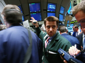 CDSs are sold over the counter, not in a formal venue like the New York Stock Exchange (shown above in September 2008, as markets tanked, thanks in part to failed CDSs).