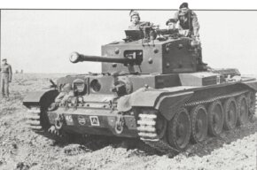 Many Cromwell Cruiser Tanks, such as this Cromwell A-27M Infantry Tank belonging to the Welsh Guards, had their 57mm guns re-bored to 75mm.