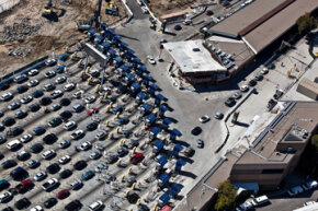 Cars line up at the CBP inspection station at San Ysidro, Calif., thought to be the busiest landport in the world.