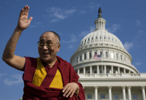 The Dalai Lama has traveled the world in his exile from Tibet. He visited Washington, D.C., in October 2007 to receive the Congressional Gold Medal.