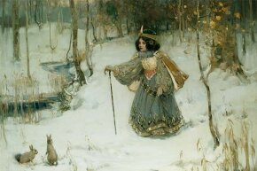 This painting titled 'The Snow Queen' was done by Thomas Bromley Blacklock.