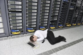 While monitoring at a data center is vital, it's highly unlikely that a tech is sleeping near the server clusters. Digital systems are in place to alert staff in the event of an outage or failure.