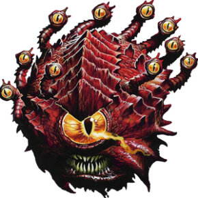 A Beholder, one of the fiercest and most iconic D&D monsters. You may need some strategy to take it down.