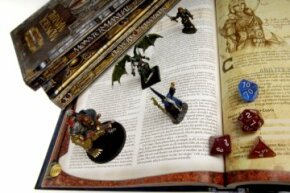To get things rolling, you'll need rule books, dice and maybe some minis (to keep up with combat).