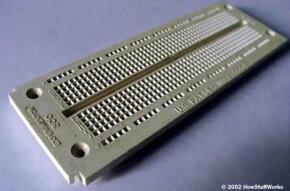 A solderless breadboard