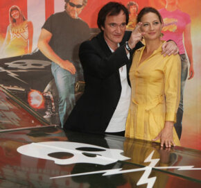 "Image Gallery: Concept Cars ""Death Proof"" director Quentin Tarantino and star Zoe Bell stand beside Stuntman Mike's 1970 Chevy Nova at the movie's Berlin premiere in 2007. See more concept car pictures."