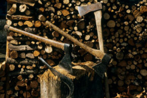 In the 2009 Death Race, participants were required to quarter 20 logs with an ax.