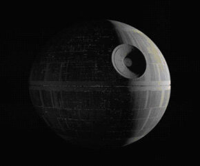 The Death Star is the size of a small moon. See more Star Wars pictures.