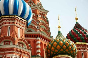 A close-up of the famous St. Basil's Cathedral in Moscow, Russia. Even though Pres. Putin called the U.S. a parasite, that did not stop Russia from buying ever-more U.S. securities.