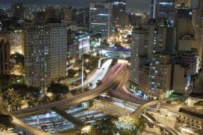 A glimpse of the Sao Paulo city center. Brazil is the world's sixth largest economy.