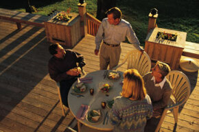 When designing your deck, think about how you'll mostly use it: whether for relaxing, eating with friends or entertaining large groups. See more patio and deck decor pictures.