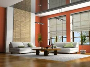 The clean lines and the warm color maximize the available space and give the room a loft-like feel.